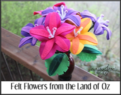 Felt Flowers from the Land of Oz
