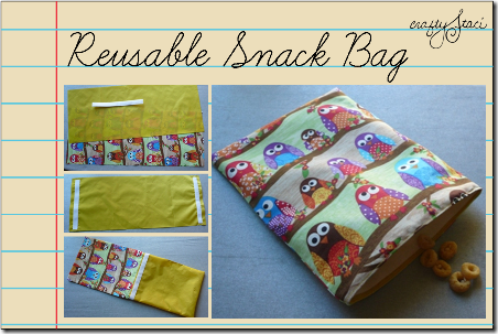 Reusable Snack Bag by Crafty Staci