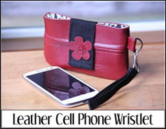 Leather Cell Phone Wristlet