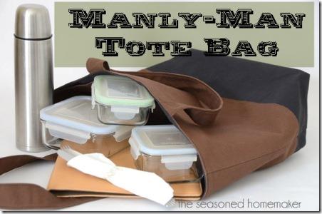 经验丰富的房主的Manly Man手提袋