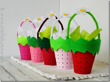 Strawberry Treat Cups - Crafts by Amanda