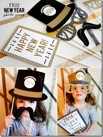 New Year Photo Props from i heart naptime