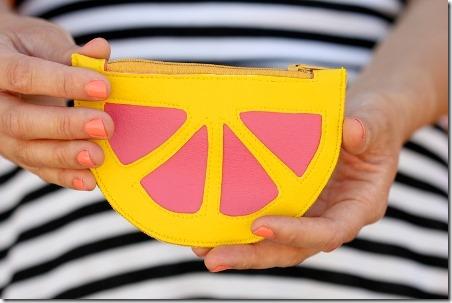 Delia的柑橘楔形零钱包创建