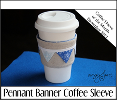 Pennant Banner Coffee Sleeve