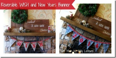 Reversible Holiday Wish and New Years Banner from 504 Main