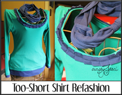 Too-Short Shirt Refashion