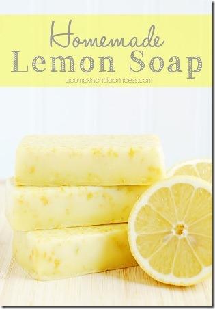 南瓜和公主自制的柠檬肥皂
