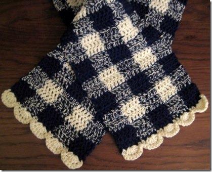 方格布式围巾9