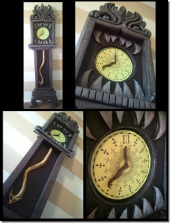 Disneyland's Haunted Mansion 13 Hour Clock by DIY Nightmare Before Christmas Halloween Props