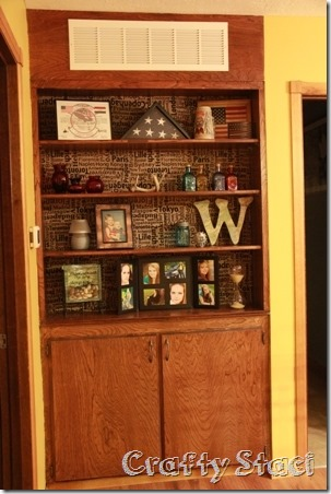 Changing the Background on a Built-in Cabinet - Crafty Staci 7