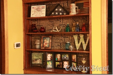 Changing the Background on a Built-in Cabinet - Crafty Staci 8