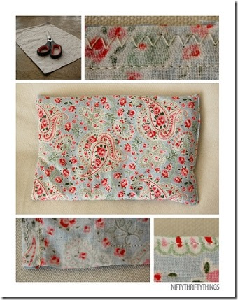 Cherry Pit Pillow from Nifty Thrifty Things