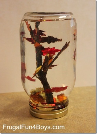 Fall Tree Snow Globe from Frugal Fun for Boys