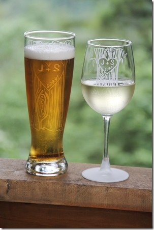 Product Review - Personalized Tree Trunk Glassware Duo - Crafty Staci 1
