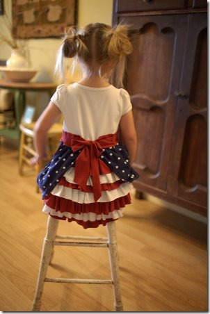 Red White and Blue Bustle Dress by Heart Break Kids