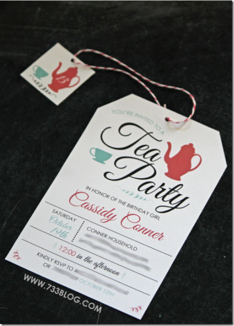 Tea Party Invitation by Seven Thirty Three