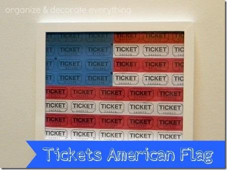 通过组织和装饰一切门票获得美国国旗