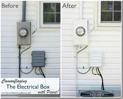 通过家庭和家庭的爱伪装电气盒