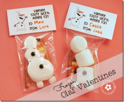 Frozen Olaf Valentines by One Creative Mommy