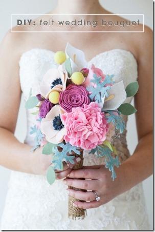DIY感觉从绿松石婚礼花束