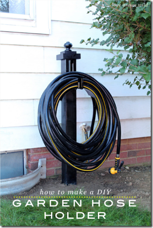 DIY Garden Hose Holder by Love Grows Wild