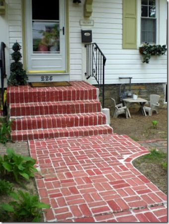 Faux Brick Walkway by Painted Home Designs