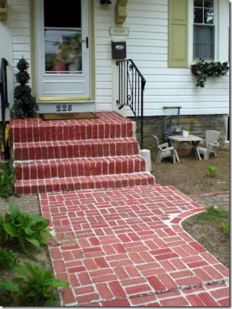 彩绘家居设计的人造砖人行道