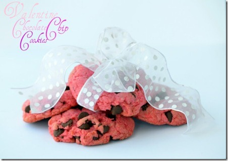 Valentine Chocolate Chip Cookies from Made Famous By
