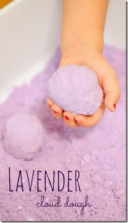 Lavender Cloud Dough from Growing a Jeweled Rose