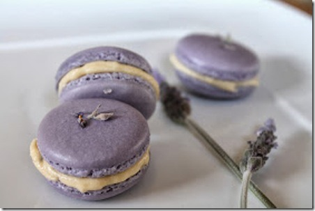 Lavender Macaroons from The Cottage Diaries
