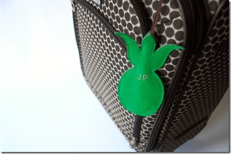 Pineapple Luggage Tag by Jordana Paige