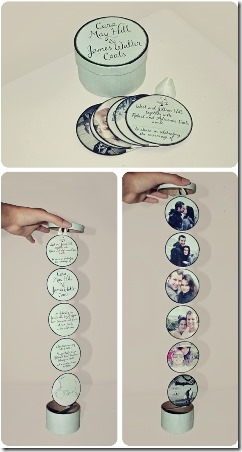 Round Wedding Invitations from Voyages of the Creative Variety