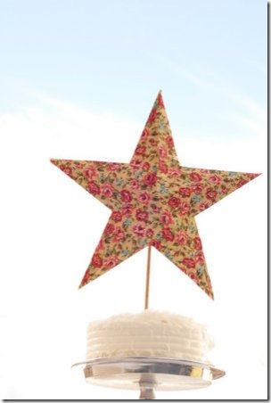 Vintage Star Cake Toppers from Project Wedding