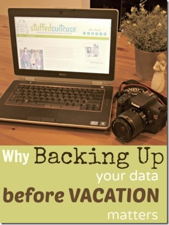 Backing Up Data Before Vacation Matters from Stuffed Suitcase