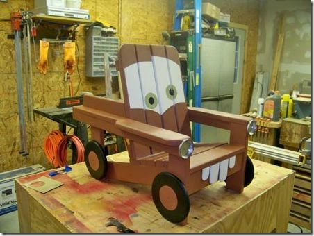 Tow Mater Child's Adorondak Chair by Jefferson Woodworks