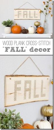 木板木板十字绣秋天装饰从使它和爱它