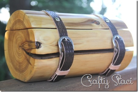 Cedar Log Wedding Ring Bearer Box - Crafty Staci 6