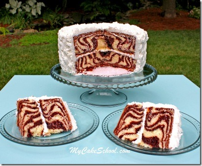 Zebra Cake from My Cake School