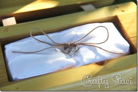 Cedar Log Wedding Ring Bearer Box - Crafty Staci 3