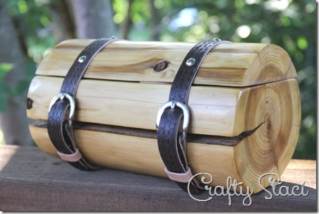 Cedar Log Wedding Ring Bearer Box - Crafty Staci 2