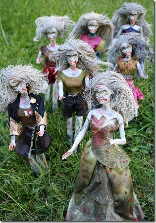 Barbie Zombies by Crafts by Amanda