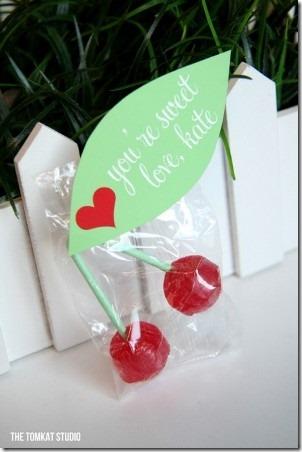 Cherry Lollipop Valentines by The Tomcat Studio