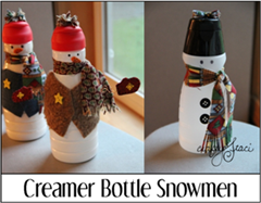 Creamer Bottle Snowmen