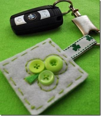 按钮缀饰爱尔兰钥匙链
