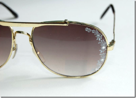 DIY Lace Aviator Sunglasses from Studs and Pearls