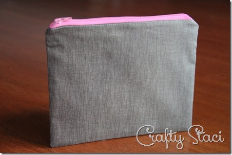 Easy Lined Zippered Bag - Crafty Staci 11