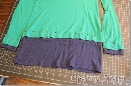 Long Sleeved Shirt Refashion - Crafty Staci 5
