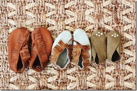 DIY Moccasins for Children by A Beautiful Mess