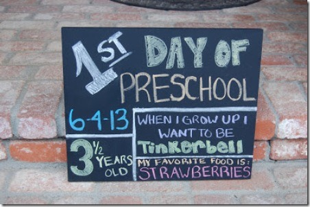 First Day of School DIY Sign from Pinkie for Pink