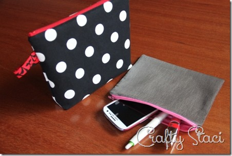Easy Lined Zippered Bag - Crafty Staci 17